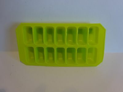 Silicone Soft Splash Ice Cube Tray Flexible GREEN  By Apollo. 1x