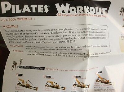 Pilates Exercise Wall Chart and Manuel for machine