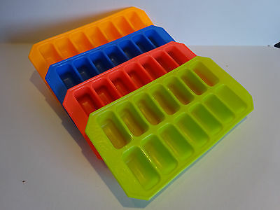 Soft and Flexible Splash Ice Cube Tray in 4 Colours non Stick Cubes Pack of 1