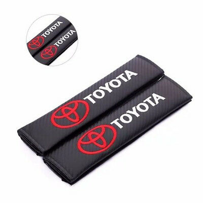 2pcs Carbon Fiber Seat Belt Cover Shoulder Pad TRD Toyota Corolla Yaris Camry 79