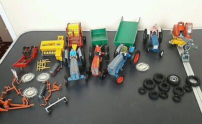 Britain  farm toys ( dicast  trackter, trailer, jcb made in England 1978)