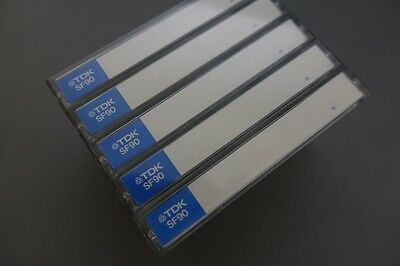 5x TDK SF 90 Chrome Kassetten Audio cassettes tapes type II
