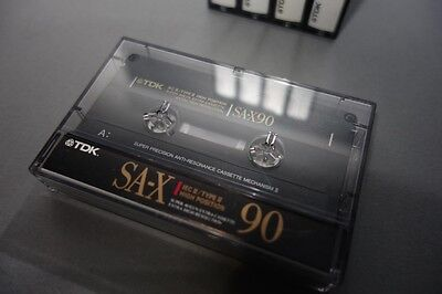 5x TDK SA-X 90 Chrome Kassetten Audio cassettes tapes type II - unbeschriftet