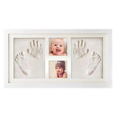 Baby Hand and Footprint Picture Frame Kit Memorable Keepsakes Gift for New...