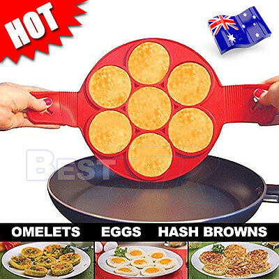 Silicone Non Stick Flipper Pancake Pan Perfect Breakfast Maker Egg Omelette Tool