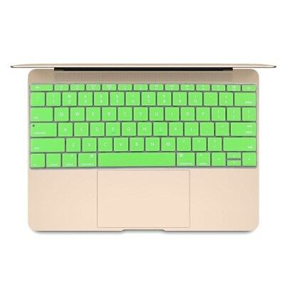 TECH Green Soft 12 inch Silicone Keyboard Protective Cover Skin for new MacBook
