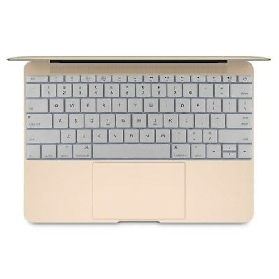 i-TECH Grey Soft 12 inch Silicone Keyboard Protective Cover Skin for new MacBoo