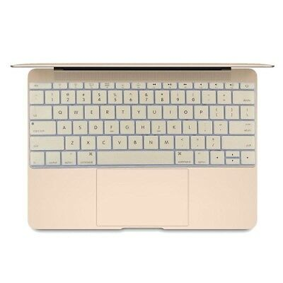 Hi-TECH Gold Soft 12 inch Silicone Keyboard Protective Cover Skin for new MacBo