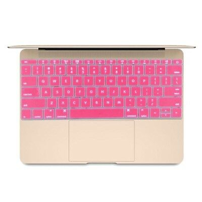 Hi-TECH Magenta Soft 12 inch Silicone Keyboard Protective Cover Skin for new Ma