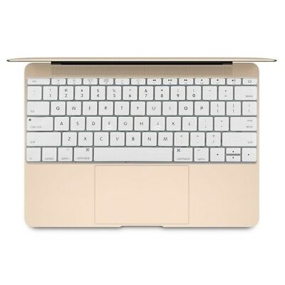 TECH White Soft 12 inch Silicone Keyboard Protective Cover Skin for new MacBook
