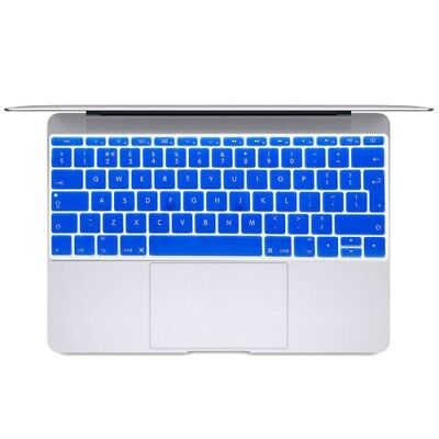 TECH Dark Blue Soft 12 inch Translucent Colorized Keyboard Protective Cover Ski
