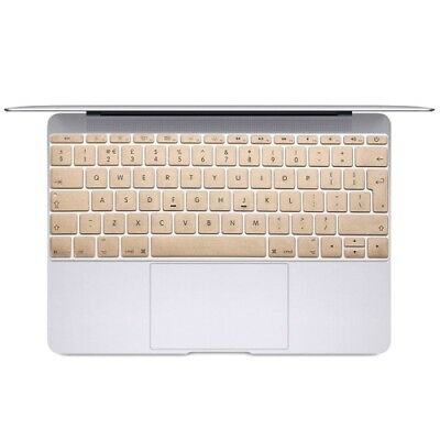 ELETTRONICA Gold Soft 12 inch Translucent Colorized Keyboard Protective Cover S