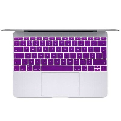 Hi-TECH Purple Soft 12 inch Translucent Colorized Keyboard Protective Cover Ski