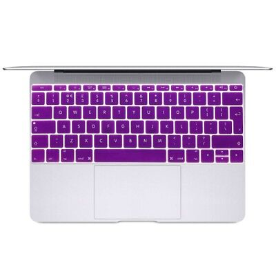 TECH Purple Soft 12 inch Translucent Colorized Keyboard Protective Cover Skin f