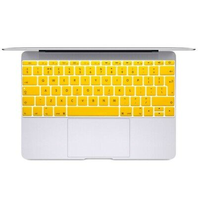 Hi-TECH Yellow Soft 12 inch Translucent Colorized Keyboard Protective Cover Ski