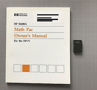 Hewlett Packard Math pac module HP 82480A (5061-7226) for HP 71b