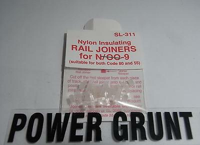 PECO SL-311 Rail Joiners Insulating N/OO-9 for Code 80 & 55 Track