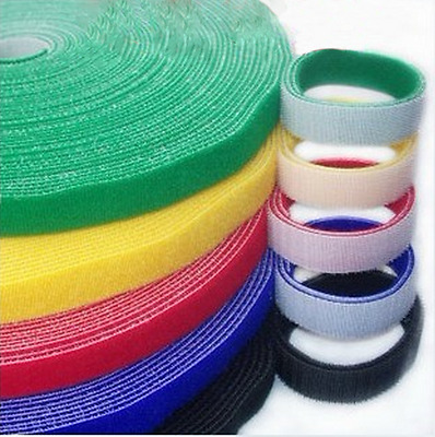 Double Sided Hook and Loop Tape Fastener 10/15/20/25/30/40/50mm Cable Ties Strap