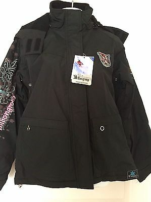 Brand New Water Resistant Ski Jacket UNISEX BLACK OR GREY WOMENS AND MENS
