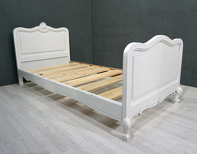Vintage French Shabby Chic Single Bed (BR91)
