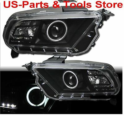FORD MUSTANG 2010 - 2014 CCFL PROJECTOR SCHEINWERFER LED Angeleyes 10 12 14 2012