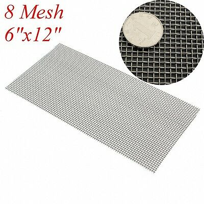 Stainless Steel 304 Mesh #8 .035 Filtration Woven Wire Cloth Screen 6''x12''