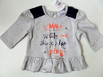 Baby Girls Make A Wish And Shine Like A Star Grey Tunic Top Newborn UpTo 1 Month