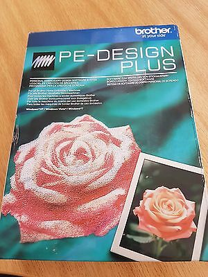 Brother PE Design Plus Embroidery Machine Design Software and Manual BNIB