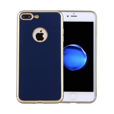 ELETTRONICA Dark Blue For iPhone 7 Plus Electroplating Soft TPU Protective Cove