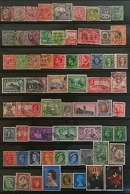 #3 G.b. & Commonwealth Mixed Stamps(Qv-Qeii) !!