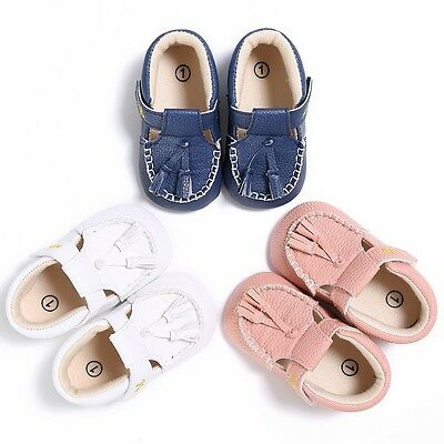 0-18M Baby Girl Boy Tassel PU leather Shoes Infant Kid Toddler Moccasin Shoes AU