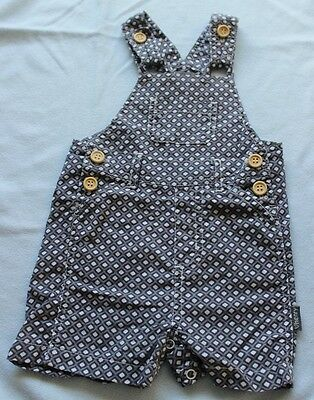 Love Henry Baby Boy Overalls Dungaree Size 00 Short Leg Grey Cotton Wood Button