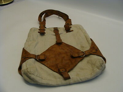 Vintage Lupo Retro Bag,brown & Beige,16 Inches By 16 Inches, V.g. Con