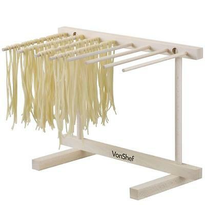 Collapsible Wooden Fresh Homemade Pasta DRYING RACK Air Dry Kitchen Cooking Tool
