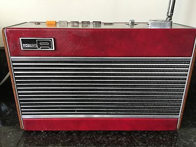 Roberts Red Leather Vintage R727 AM/FM 5 BAND Radio