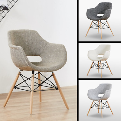 Scandinavian Dining Chair Armchair Plastic Marcelo White Black Grey Chocolate