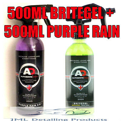 Autobrite Direct 500Ml Purple Rain + 500Ml Britegel Alloy Wheel Cleaner Kit