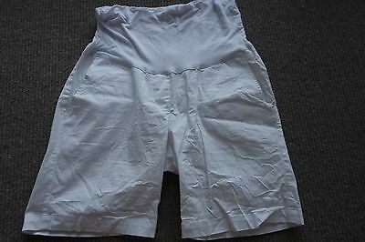 Maternity Shorts White Size 10 Casual Cargo Style Pregnancy Great Condition