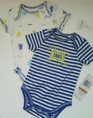 Baby GUESS set of 2 Baby Boy One Piece  0-3M NWT