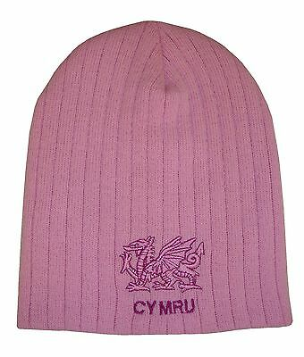 Wales Rugby Pink Beanie Hat