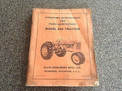 Allis Chalmers D14 Tractor Operator's Manual