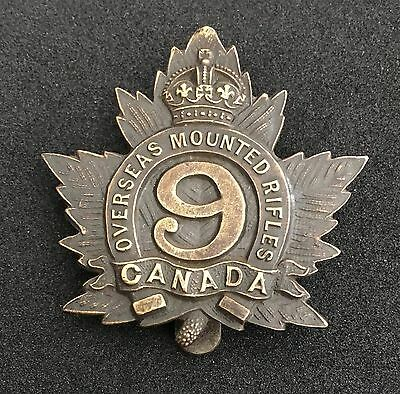 9th Lloydminster, Saskatchewan, Canadian Mounted Rifles WW1
