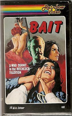 Bait (1973) on Rainbow VHS videotape - MEGA RARE -  Pre Cert big box