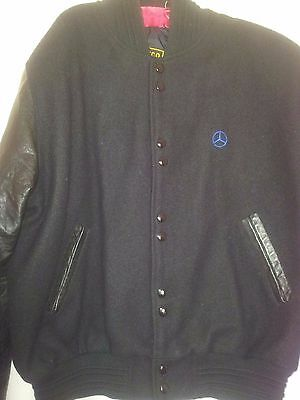 Mercedes Benz Siricco mans jacket wool/leather size M black