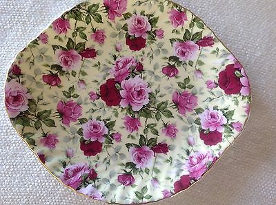 Chintz Staffordshire England Royal Garden Serving Plate MINT Condition 10.75""