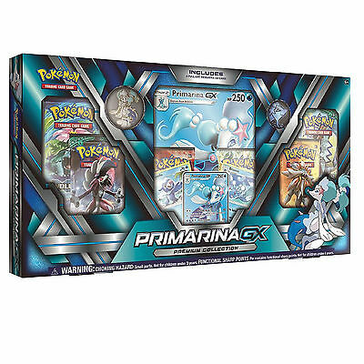Pokemon TCG Primarina GX Premium Collection Box: Inc Booster Packs + Promo Cards