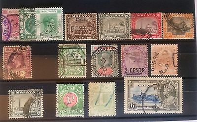 BRITISH ASIA 1890-1935 RANGE WITH MALAYA VALUES TO 50c POSTAGE DUES OTHERS (16)