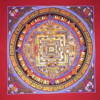 Original Signed Handpainted Mandala Thangka Gold Painting Buddha Meditation a400