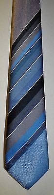 Folkespeare of Macclesfield Made in GB Strips Blue Silver Gray & Black See Pic's
