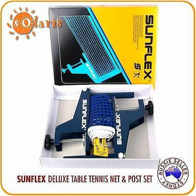SUNFLEX Match Table Tennis Net Post Set Official Size Screw-on Clamp Cotton Net